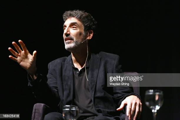 Actor Chuck Lorre speaks onstage at Chuck Lorre In Conversation With Neil Gaiman during the 2013 SXSW Music Film Interactive Festival at The Long...