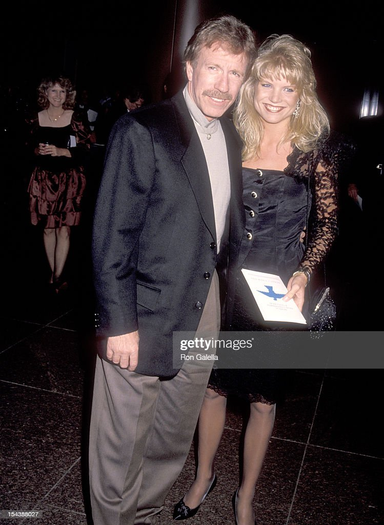 Actor Chuck Norris and date Monica Hall attend the