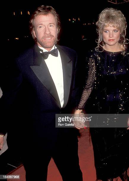 Actor Chuck Norris and date Monica Hall attend The Foundation of Picture Pioneers Gala Honoring Terry Semel with the 'Pioneer of the Year' Award on...