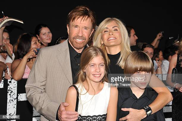 Actor Chuck Norris and family arrive at the premiere of Expendables 2 held at Grauman's Chhinese Theater in Hollywood