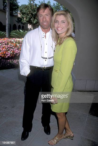 Actor Chuck Norris and girlfriend Gena O'Kelley attend the CBS Summer TCA Press Tour on July 24 1998 at RitzCarlton Hotel in Pasadena California