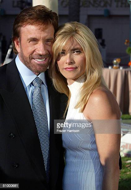 Actor Chuck Norris and his wife Gena O'Kelley arrive at the Academy of Television Arts and Sciences Hall of Fame Induction Ceremony on June 26 2004...