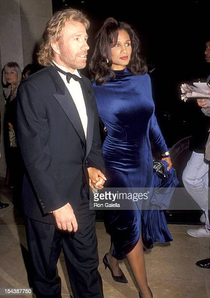 Actor Chuck Norris and model Beverly Johnson attend the Friends of Tel Hashomer's 22nd Annual Sheba Humanitarian Award Dinner Honoring Elizabeth...