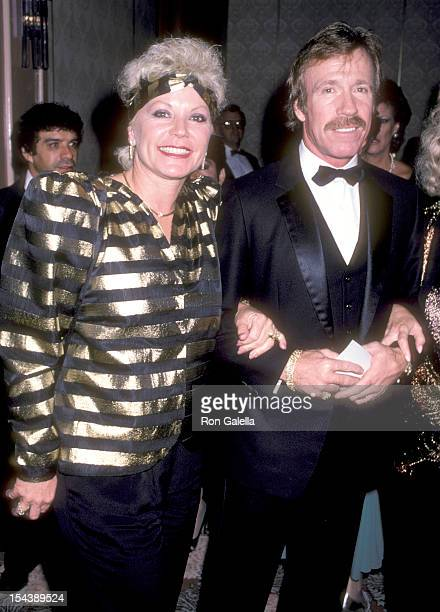Actor Chuck Norris and wife Diane Holechek attend the Friends of Tel Hashomer's 16th Annual Sheba Humanitarian Award Dinner Honoring Menahem Golan...