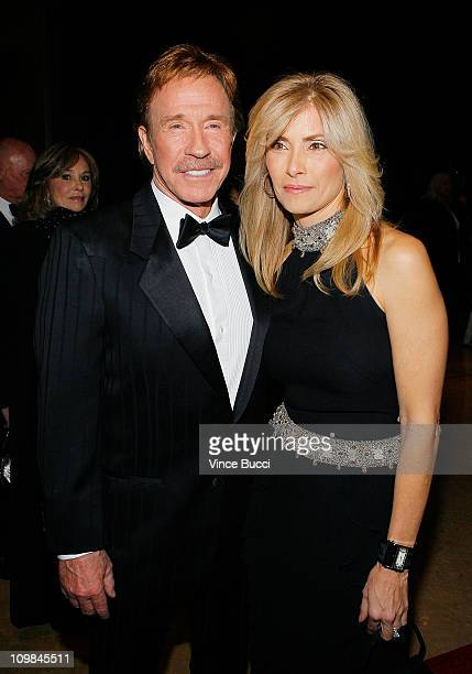 Actor Chuck Norris and wife Gena O'Kelley attend the 17th Annual Movieguide Faith and Values Awards at the Beverly Hilton Hotel on February 11, 2009...