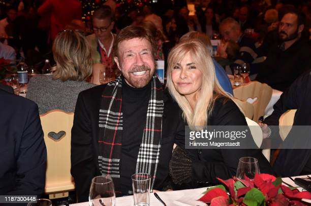 Actor Chuck Norris and wife Gena O'Kelley during the Gut Aiderbichl Christmas Market opening on November 12, 2019 in Henndorf am Wallersee, Austria.