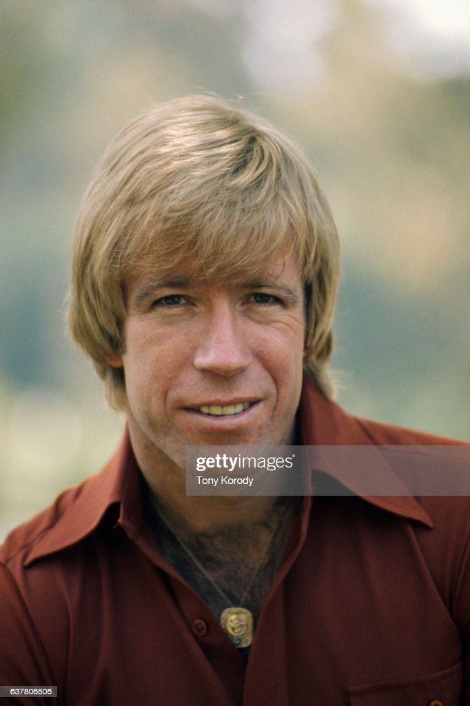 Actor Chuck Norris at Home