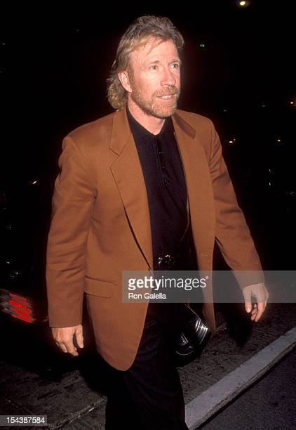 Actor Chuck Norris attends Renny Harlin's 33rd Birthday Party on March 12 1992 at Bar One Nightclub in Hollywood California