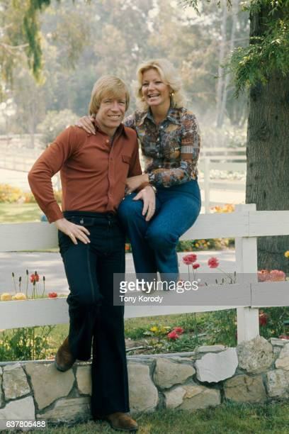 Actor Chuck Norris with His Wife Diane at Home