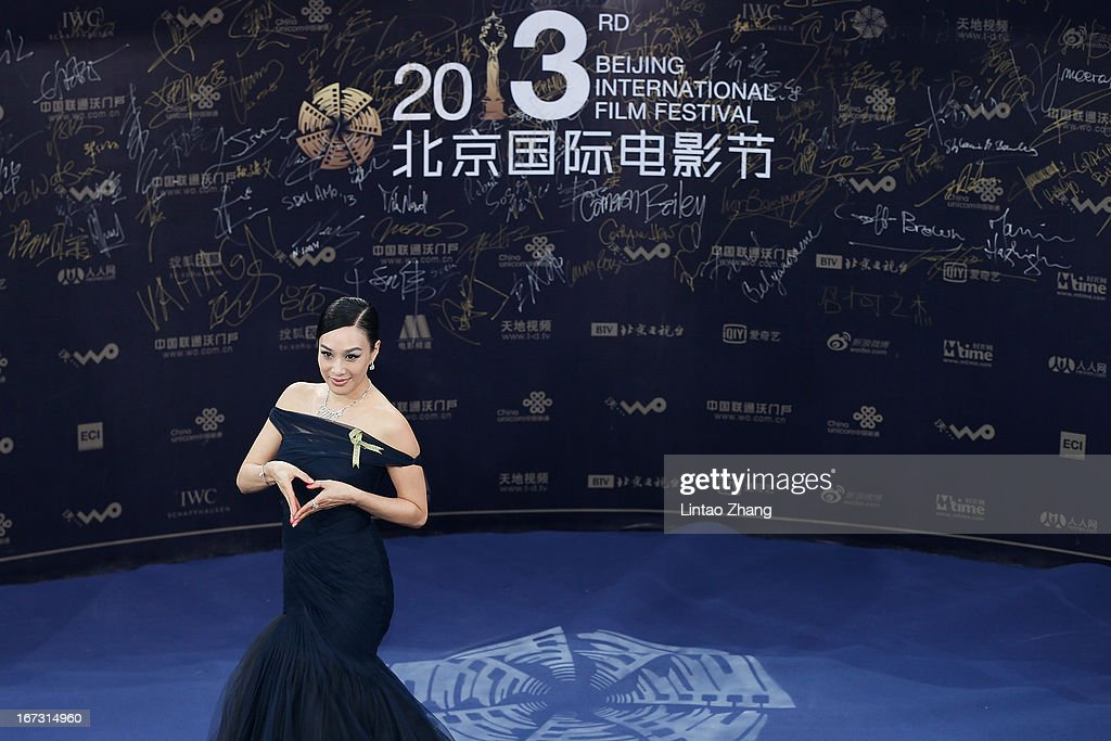 Actor Chung Christy arrives at the closing ceremony red carpet during the 3rd Beijing International Film Festival at China National Convention Center on April 23, 2013 in Beijing, China.