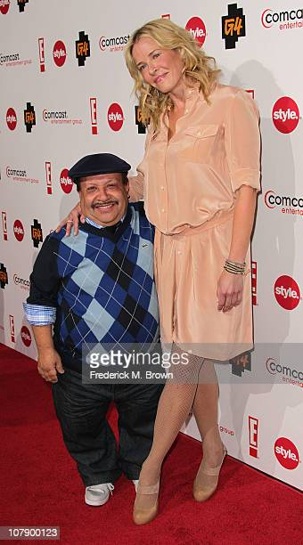 Actor Chuy Bravo and television host Chelsea Handler attend the Comcast Entertainment Group Television Critics Association Cocktail Reception at The...