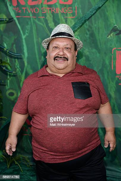 Actor Chuy Bravo attends the premiere of Focus Features' 'Kubo and the Two Strings' at AMC Universal City Walk on August 14, 2016 in Universal City,...