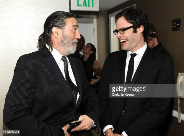 Actor Ciaran Hinds and actor Bill Hader attend the 16th Costume Designers Guild Awards with presenting sponsor Lacoste at The Beverly Hilton Hotel on...