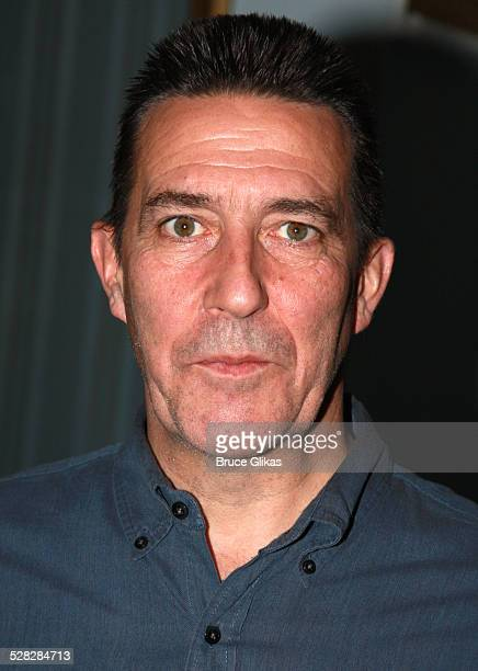 Actor Ciaran Hinds poses as he arrives for the Opening Night After Party for Conor McPherson's play The Seafarer on Broadway at The Booth Theater on...
