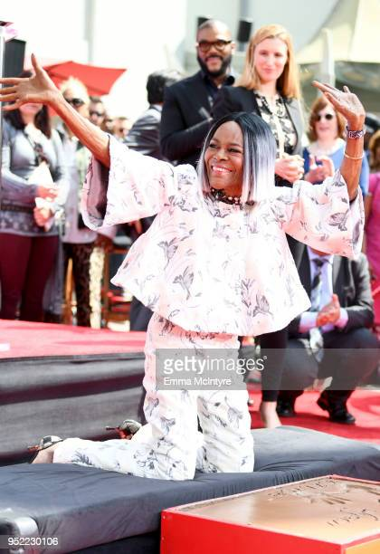 Actor Cicely Tyson attends the Hand and Footprint Ceremony honoring Cicely Tyson during the 2018 TCM Classic Film Festival at TCL Chinese Theatre on...