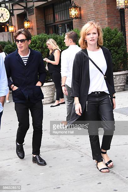 Actor Cillian Murphy and Yvonne McGuinness are seen on August 5, 2016 in New York City.