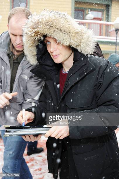 Actor Cillian Murphy attends the Stella Cafe At TMobile Google Music Village At The Lift Day 2 during the Sundance Film Festival on January 21 2012...