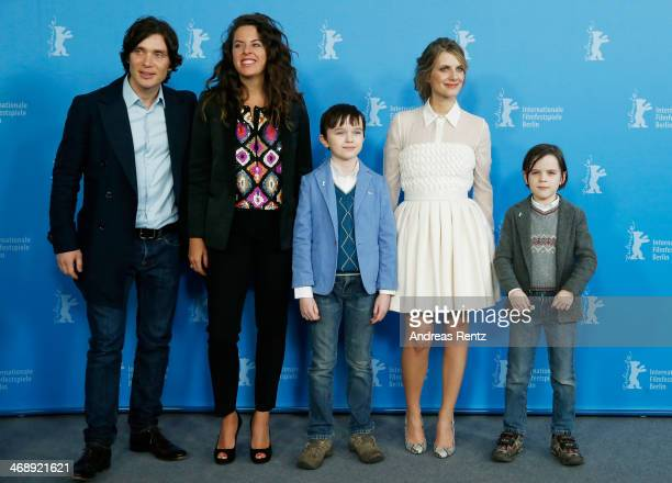 Actor Cillian Murphy, director Claudia Llosa, actor Zen McGrath, actress Melanie Laurent and actor Winta McGrath attend the 'Aloft' photocall during...