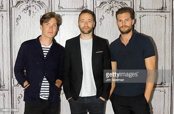 Actor Cillian Murphy director Sean Ellis actor Jamie Dornan attend AOL Build Presents Sean Ellis Jamie Dornan and Cillian Murphy 'Anthropoid' at AOL...