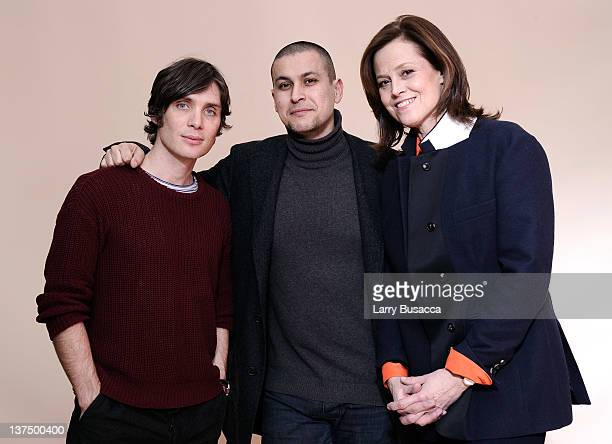 Actor Cillian Murphy director/writer Rodrigo Cortes and actress Sigourney Weaver pose for a portrait during the 2012 Sundance Film Festival at the...