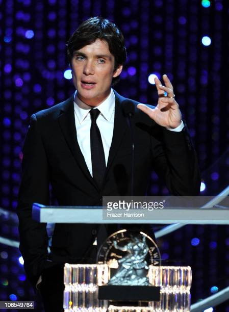 Actor Cillian Murphy onstage during the BAFTA Los Angeles 2010 Britannia Awards held at the Hyatt Regency Century Plaza on November 4 2010 in Century...