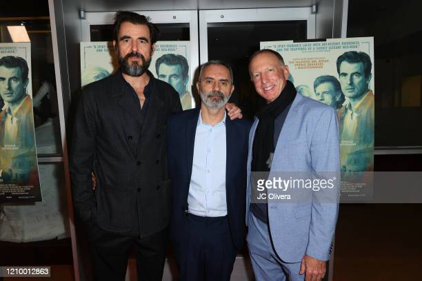 """Actor Claes Bang, director Giuseppe Capotondi and producer David Lancaster attend the LA special screening of Sony's """"The Burnt Orange Heresy"""" at..."""