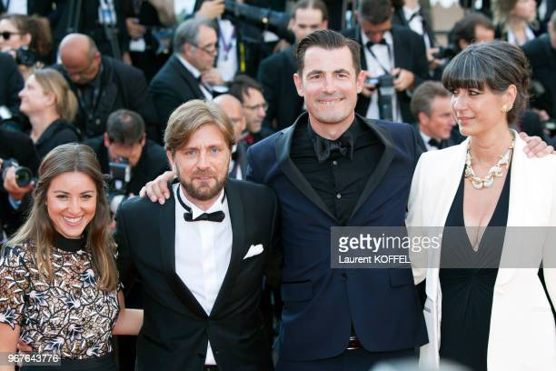 Actor Claes Bang director Ruben Ostlund and guests attends the Closing Ceremony of the 70th annual Cannes Film Festival at Palais des Festivals on...
