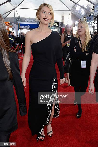 Actor Claire Danes arrives at the 19th Annual Screen Actors Guild Awards held at The Shrine Auditorium on January 27 2013 in Los Angeles California
