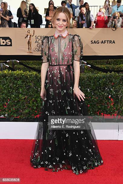 Actor Claire Foy attends the 23rd Annual Screen Actors Guild Awards at The Shrine Expo Hall on January 29 2017 in Los Angeles California