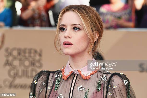 Actor Claire Foy attends the 23rd Annual Screen Actors Guild Awards at The Shrine Expo Hall on January 29, 2017 in Los Angeles, California.