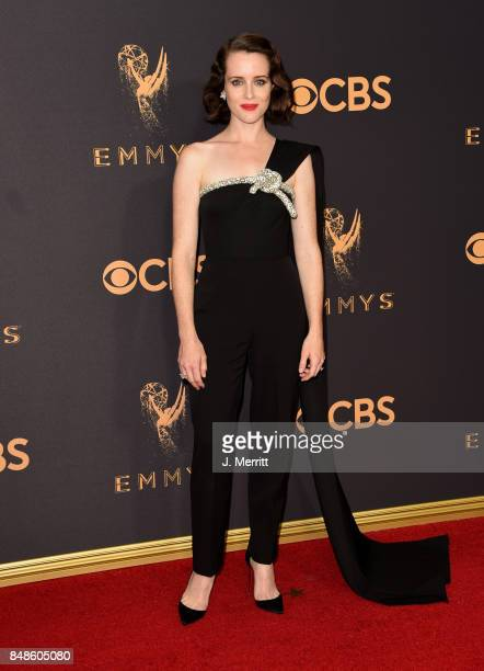 Actor Claire Foy attends the 69th Annual Primetime Emmy Awards at Microsoft Theater on September 17 2017 in Los Angeles California
