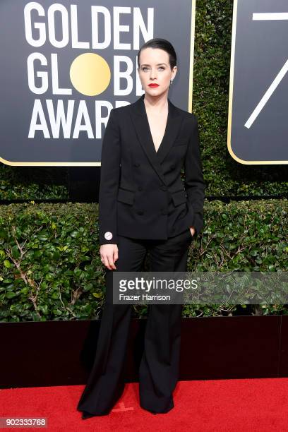 Actor Claire Foy attends The 75th Annual Golden Globe Awards at The Beverly Hilton Hotel on January 7 2018 in Beverly Hills California