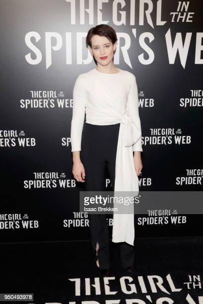 Actor Claire Foy attends the CinemaCon 2018 Gala Opening Night Event Sony Pictures Highlights its 2018 Summer and Beyond Films at The Colosseum at...