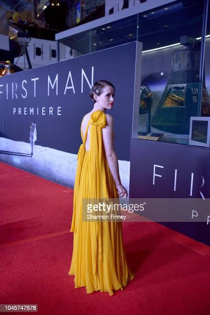 Actor Claire Foy attends the First Man premiere at the National Air and Space Museum on October 4 2018 in Washington DC