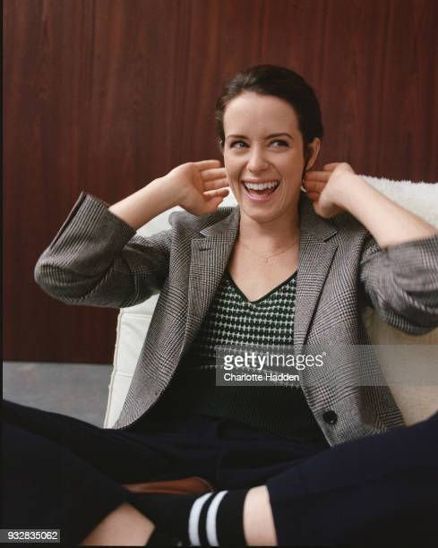 Actor Claire Foy is photographed for the Telegraph Magazine on October 5 2017 in London England