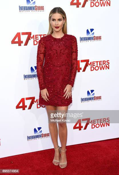 Actor Claire Holt attends the Premiere Of Dimension Films' 47 Meters Down at Regency Village Theatre on June 12 2017 in Westwood California