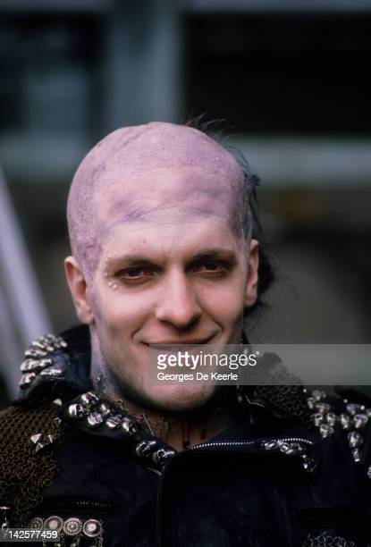 Actor Clancy Brown on set of 'Highlander' directed by Russell Mulcahy Great Britain June 1985