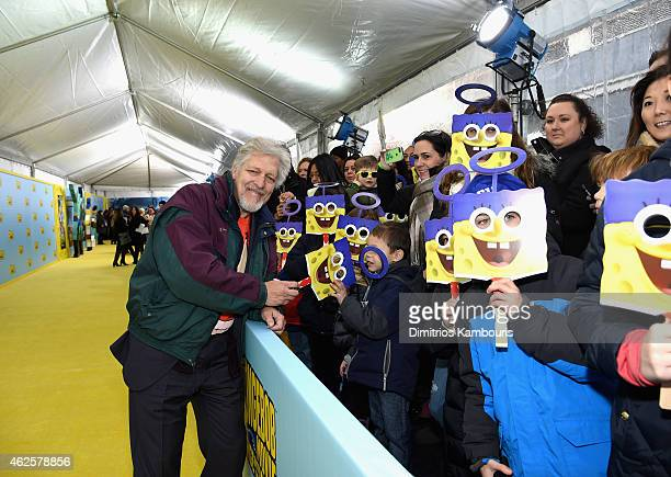 Actor Clancy Brown voice of Mr Krabs attends the World Premiere of 'The SpongeBob Movie Sponge Out Of Water 3D' at the AMC Lincoln Square on January...