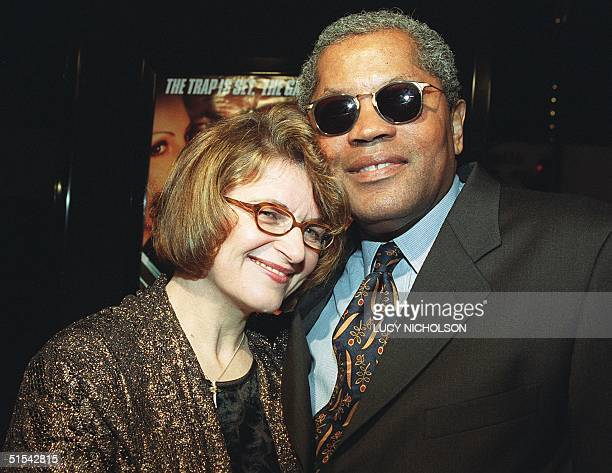 US actor Clarence Williams III arrives at the premiere of his new film Reindeer Games with partner Sandra Gould in Hollywood CA 21 February 2000 The...