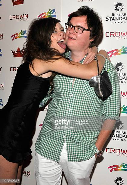 Actor Clark Duke arrives at the grand opening of the Crown Nightclub at the Rio Hotel Casinoon June 20 2010 in Las Vegas Nevada