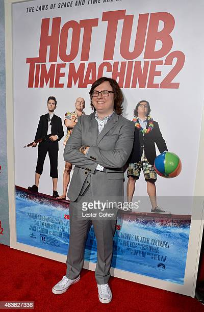 Actor Clark Duke attends the premiere of Paramount Pictures' 'Hot Tub Time Machine 2' at Regency Village Theatre on February 18 2015 in Westwood...