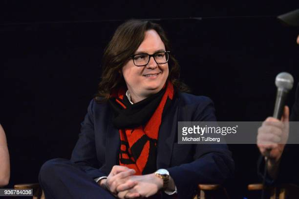 Actor Clark Duke watches the audience during a QA session at the Los Angeles premiere of The Last Movie Star at the Egyptian Theatre on March 22 2018...