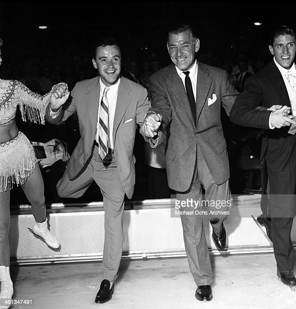 LOS ANGELES SEPTEMBER 81955 Actor Clark Gable and actor Jack Lemmon dance in Los Angeles California