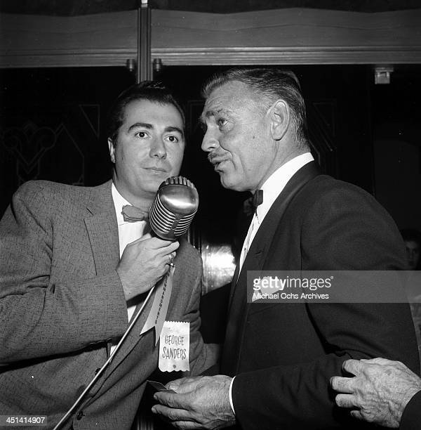 LOS ANGELES NOVEMBER 161956 Actor Clark Gable speaks to a reporter in Los Angeles California