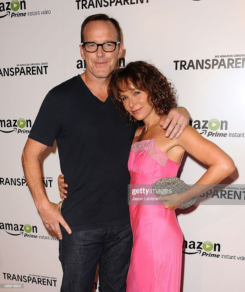 Actor Clark Gregg and actress Jennifer Grey attend the premiere of 'Transparent' at Ace Hotel on September 15, 2014 in Los Angeles, California.