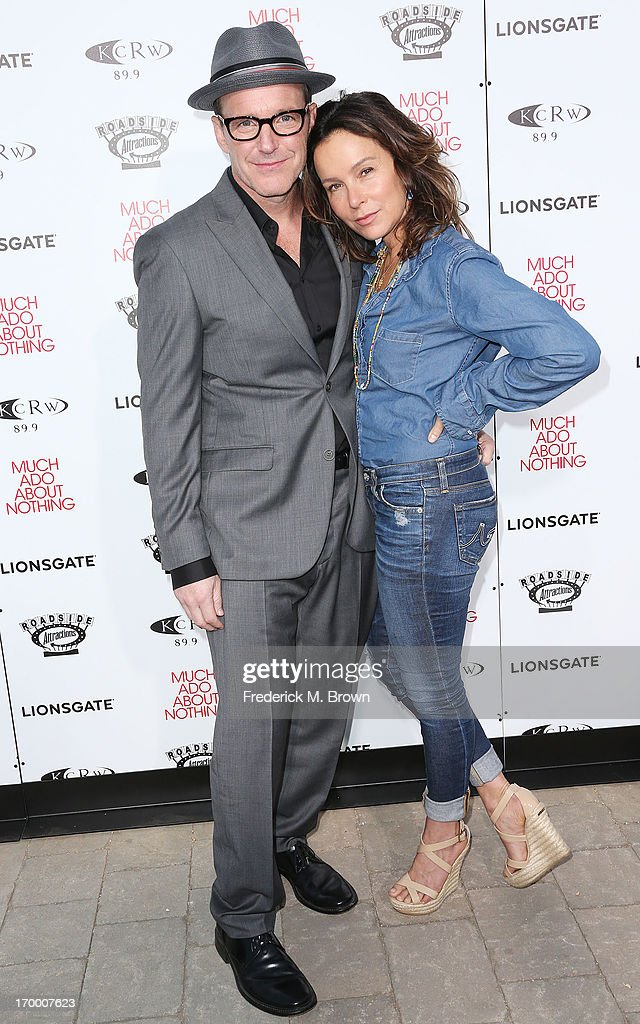 Actor Clark Gregg (L) and actress Jennifer Grey attend the screening of Lionsgate and Roadside Attractions' 'Much Ado About Nothing' at Oscar's Outdoors Hollywood theater on June 5, 2013 in Hollywood, California.