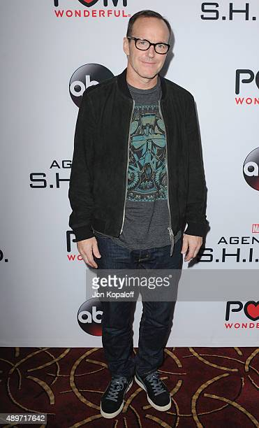 """Actor Clark Gregg arrives at the Premiere Of Marvel's """"Agents Of S.H.I.E.L.D."""" at Pacific Theatre at The Grove on September 23, 2015 in Los Angeles,..."""