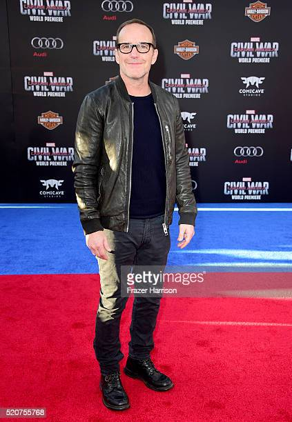 Actor Clark Gregg attends the premiere of Marvel's 'Captain America Civil War' at Dolby Theatre on April 12 2016 in Los Angeles California