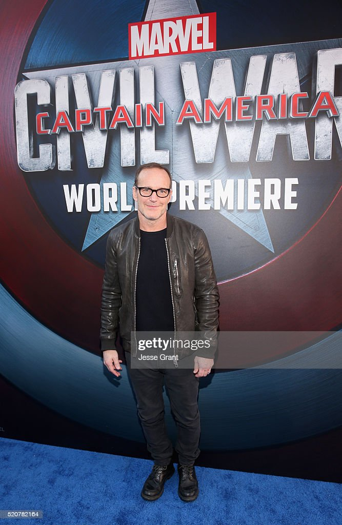 Actor Clark Gregg attends The World Premiere of Marvel's 'Captain America: Civil War' at Dolby Theatre on April 12, 2016 in Los Angeles, California.