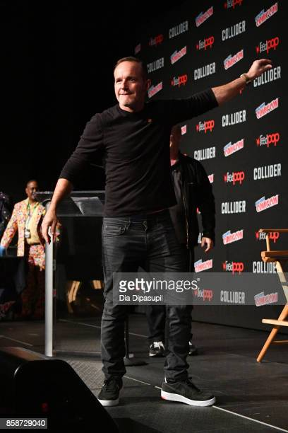 Actor Clark Gregg speak at the Marvel's Agents of SHIELD panel during 2017 New York Comic Con Day 3 on October 7 2017 in New York City